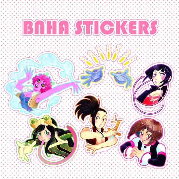 BNHA stickers: Girls of Class A