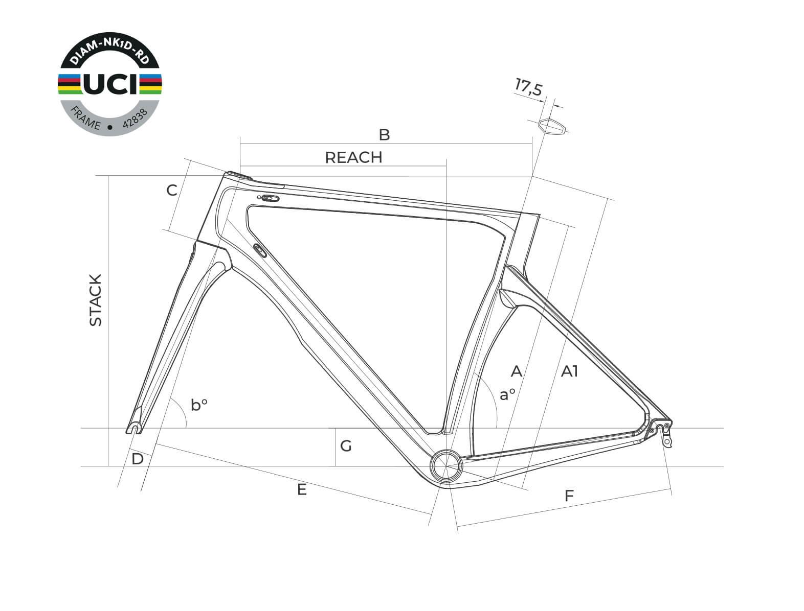 MCipollini Dolomia frame details technical scheme