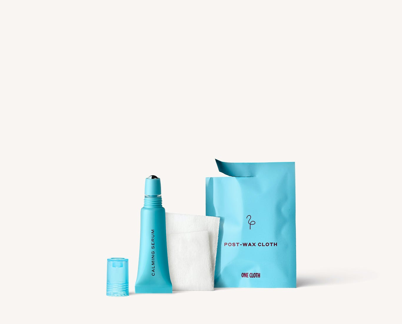 Flamingo Post Wax Cloth and Calming serum