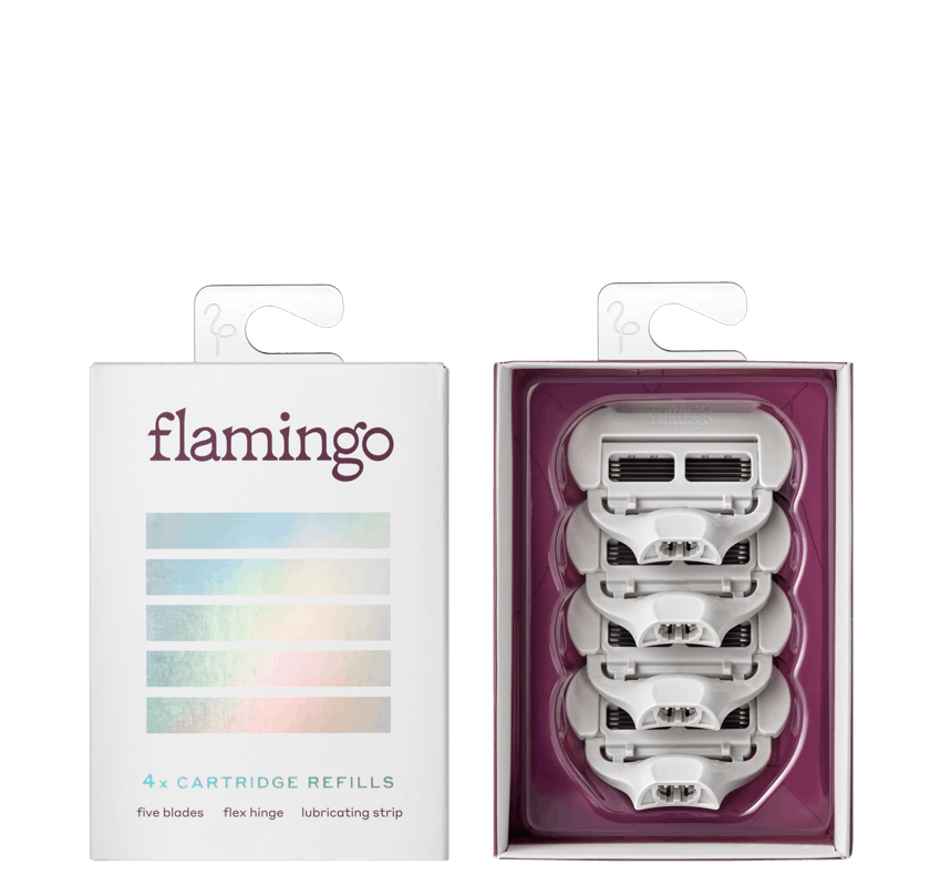 Single Flamingo Five-Blade Cartridge with Packaging