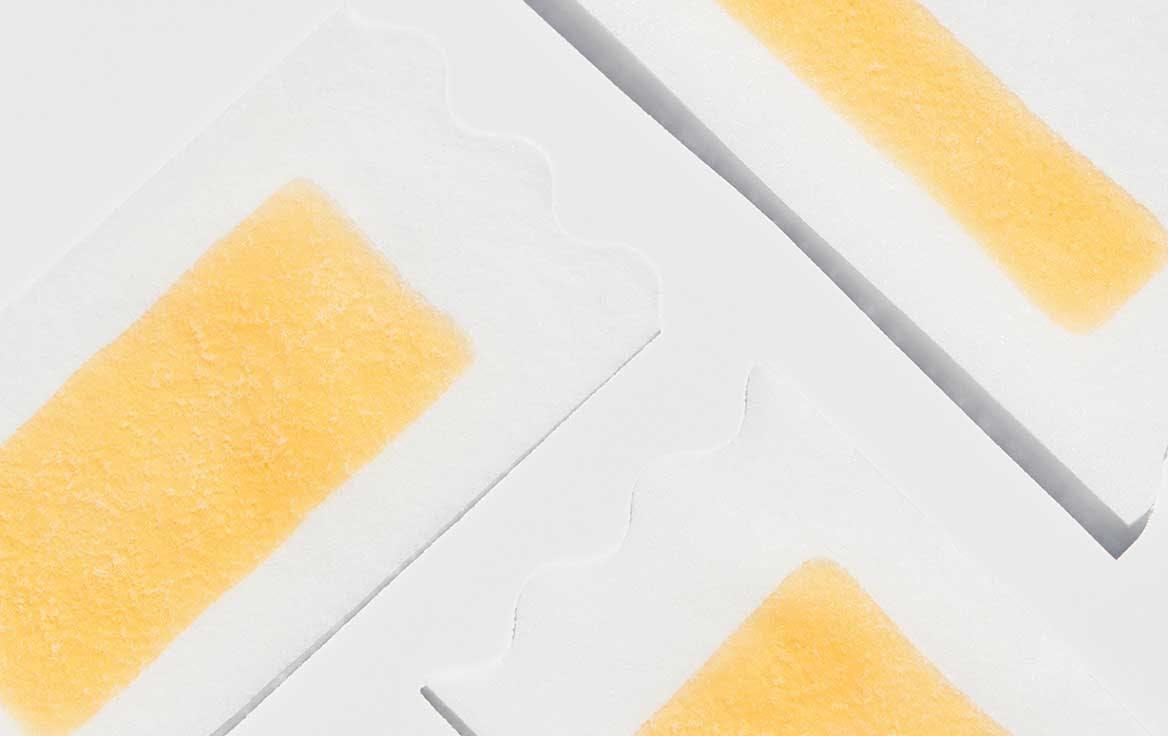 Three wax strips