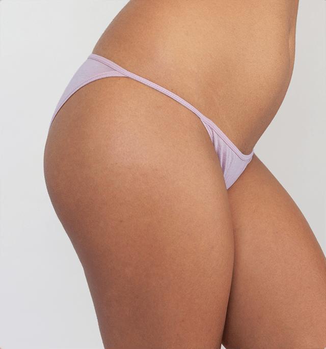Woman in lilac underwear