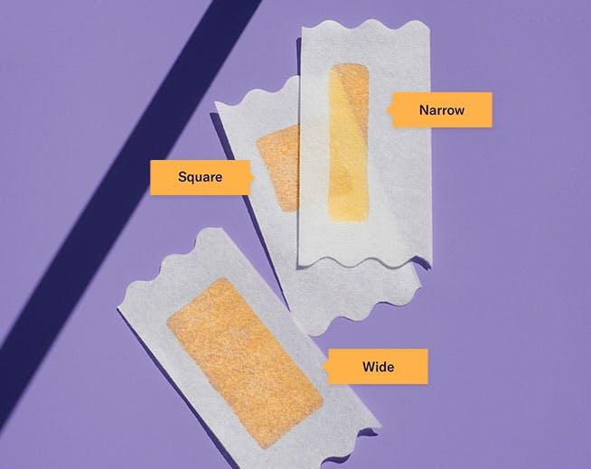 Square wax strip, wide wax strip, narrow wax strip