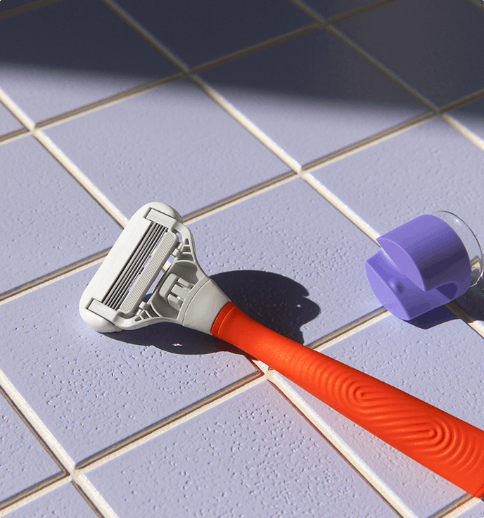 razor hanging in the shower