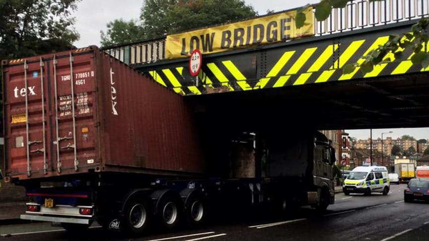 Lorries can't limbo