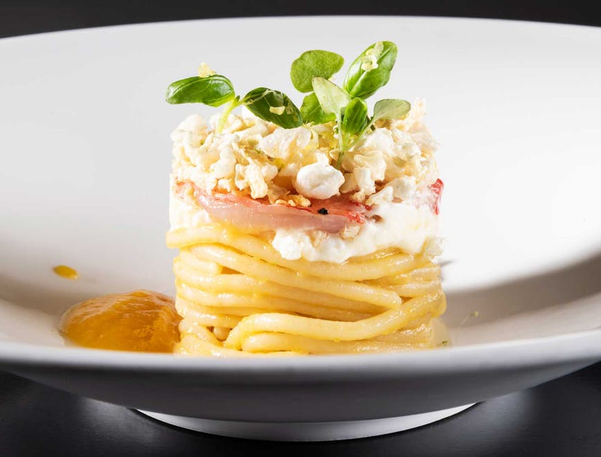 Spaghetto al pomodoro giallo by Cristoforo Trapani