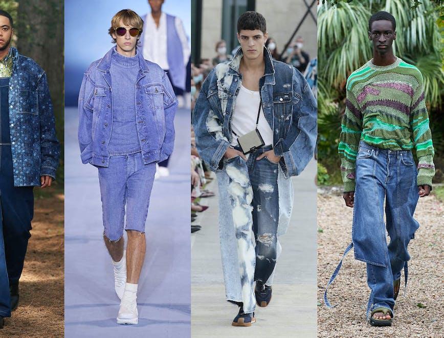 I denim e i jeans di tendenza dalle collezioni moda uomo Primavera Estate 2021