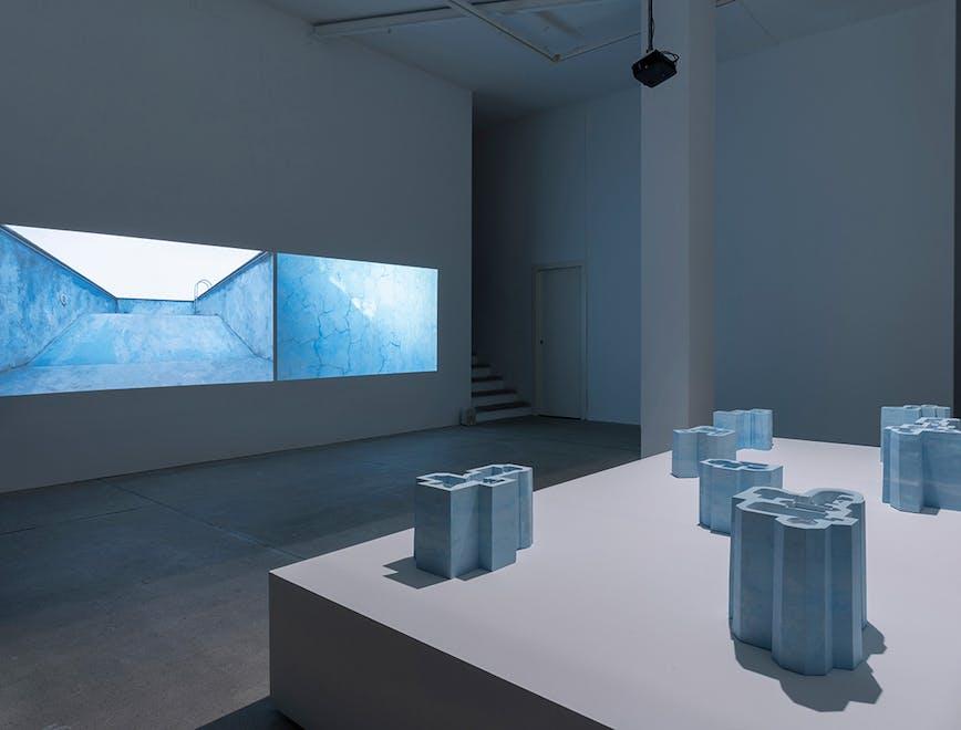 """Installazione a Raffaella Cortese - Nazgol Ansarinia """"Pools and Voids """""""