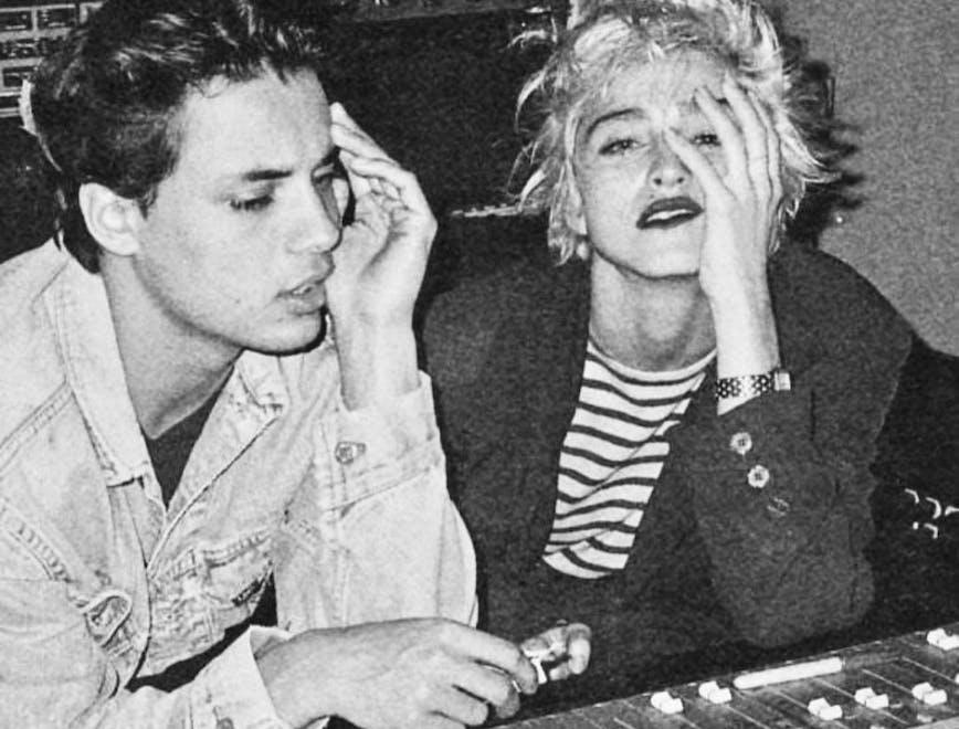 Nella foto il ritratto di Nick Kamen e Madonna