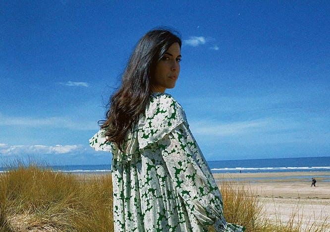 Vestito a fiori lungo in spiaggia primavera estate 2021 Laurence Bras