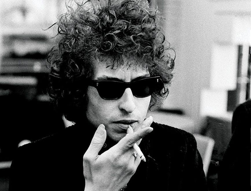Ritratto del cantautore Bob Dylan