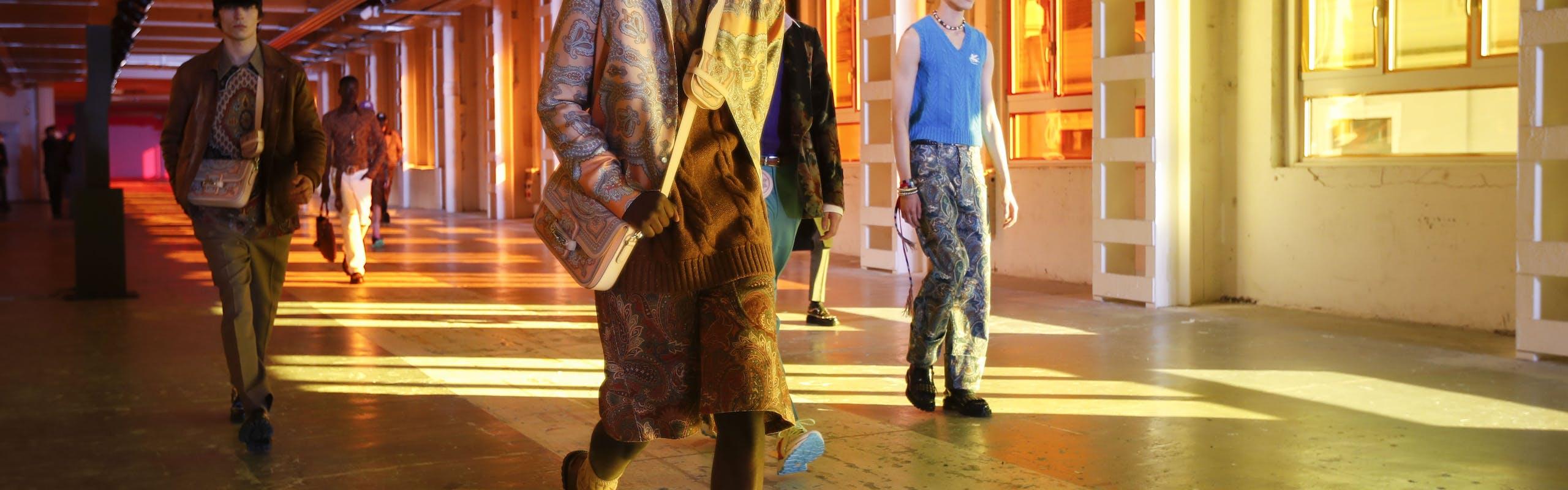 Nella foto ETRO la collezione Autunno Inverno 2021 alla Milano Fashion Week