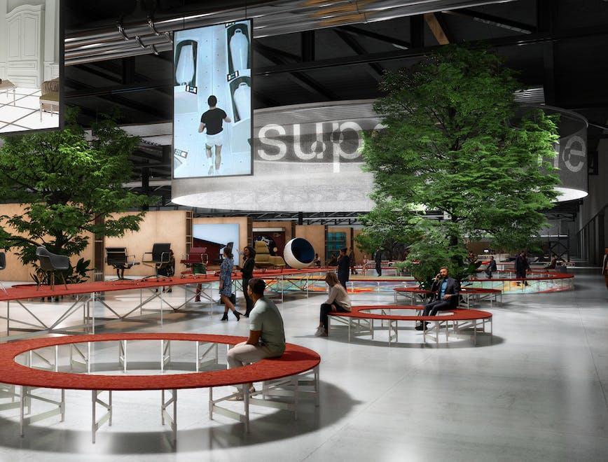 Rendering Supersalone, l'evento speciale del Salone del Mobile 2021 previsto a settembre
