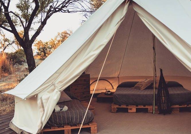 vacanze 2021, camping in tenda glamping sicilia shauri