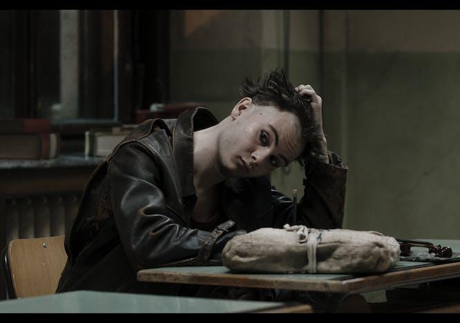 Nella foto Un ritratto di Giulio Pranno in Comedians il film di Gabriele Salvatores