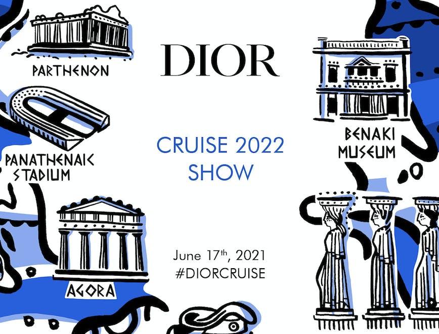 Dior sfilata ad Atene per la collezione Cruise 2022