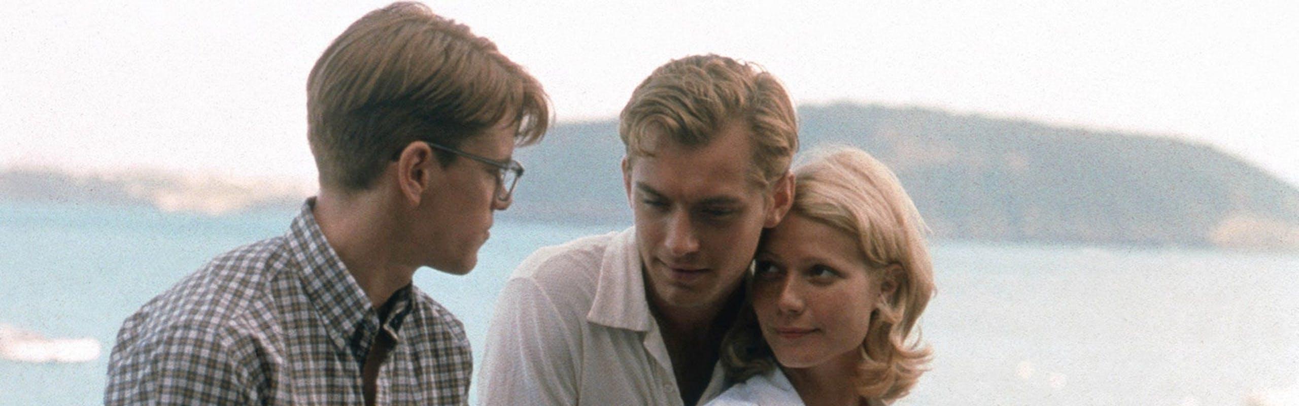 "Nella foto Matt Demon, Jude Law e Gwyneth Paltrow in ""The Talented Mr. Ripley"""