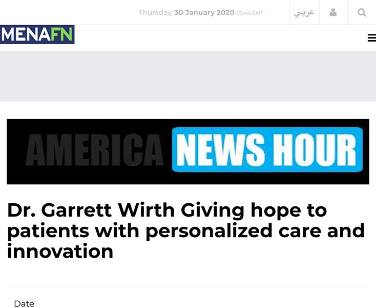 Dr. Garrett Wirth Giving hope to patients with personalized care and innovation