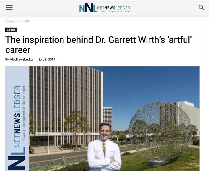 The inpiration behind Dr. Garrett Wirth's 'artful' career