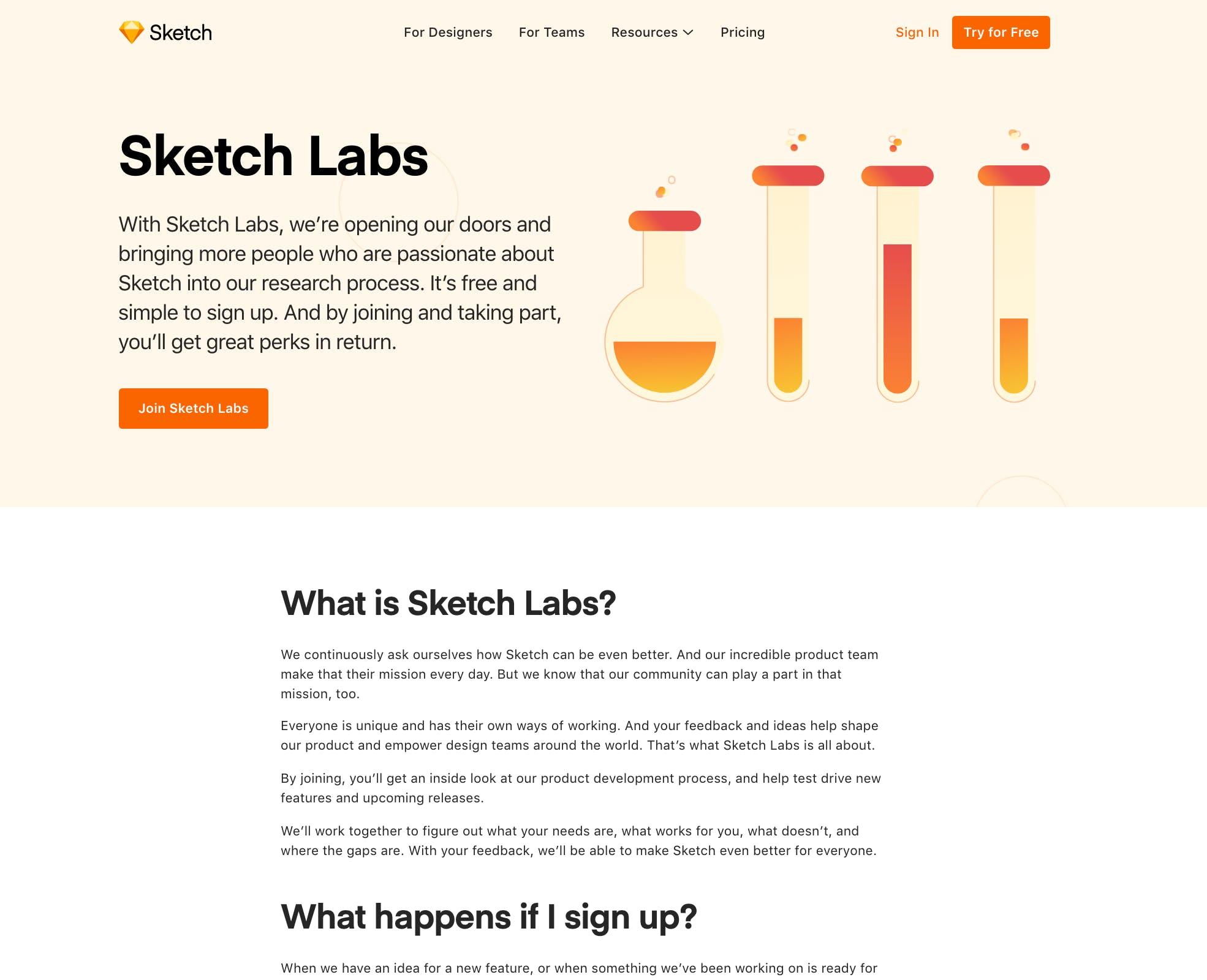 sketch labs recruit research participants