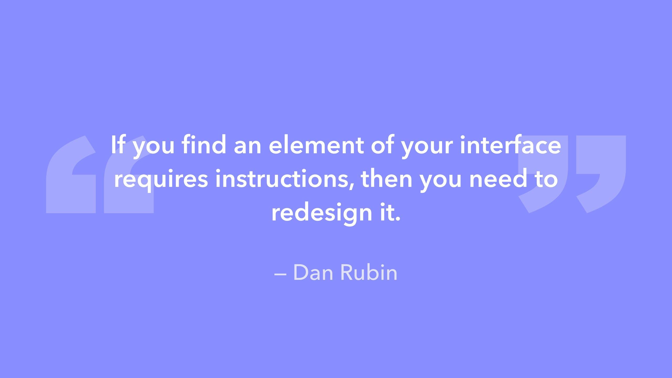 design quote Dan Rubin