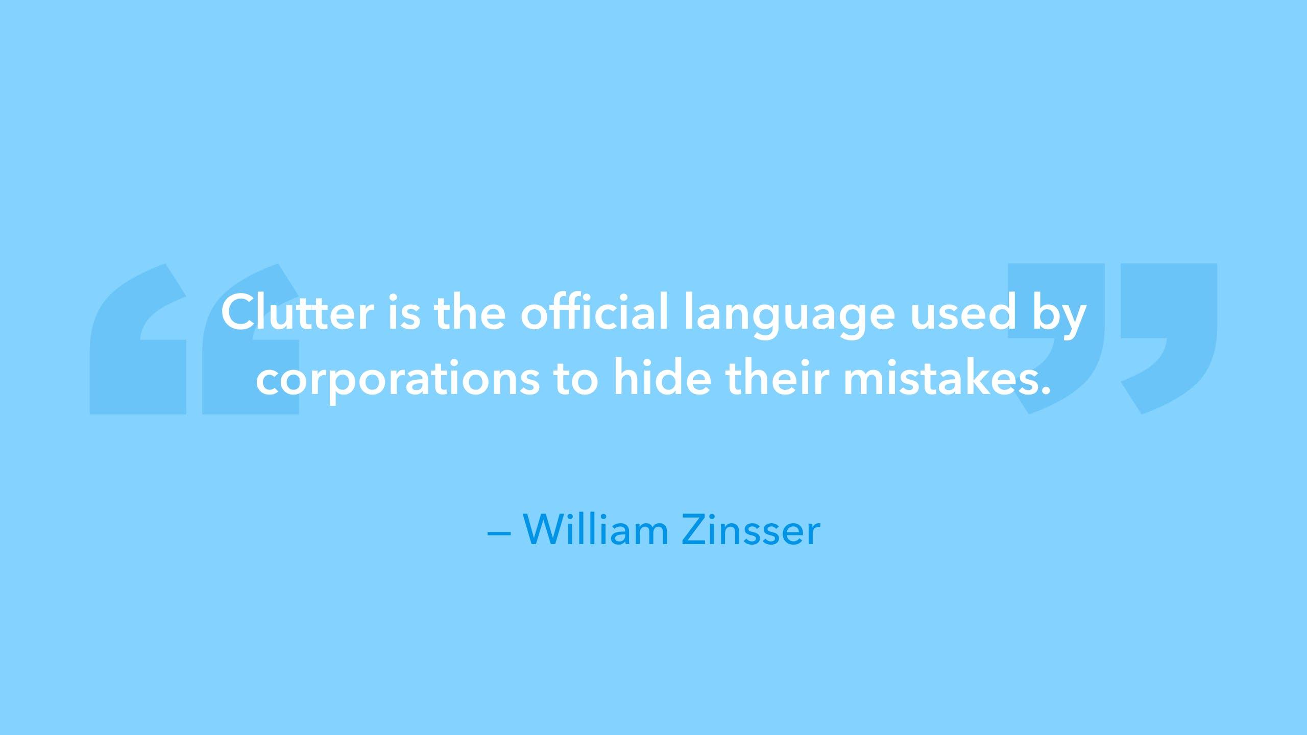 design quote William Zinsser