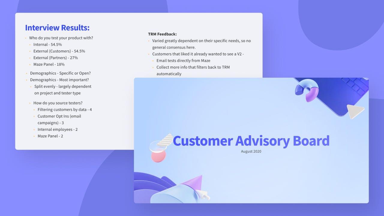 Customer Advisory Board deck
