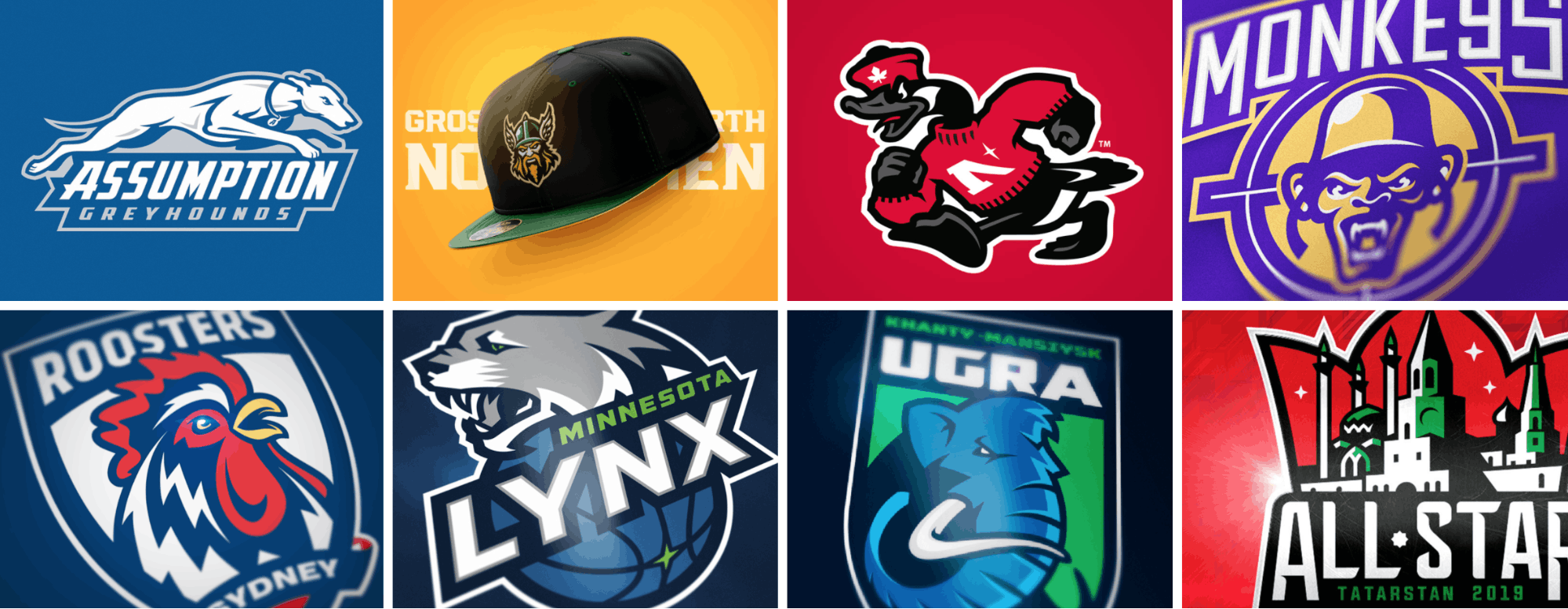 sport logos mood board examples