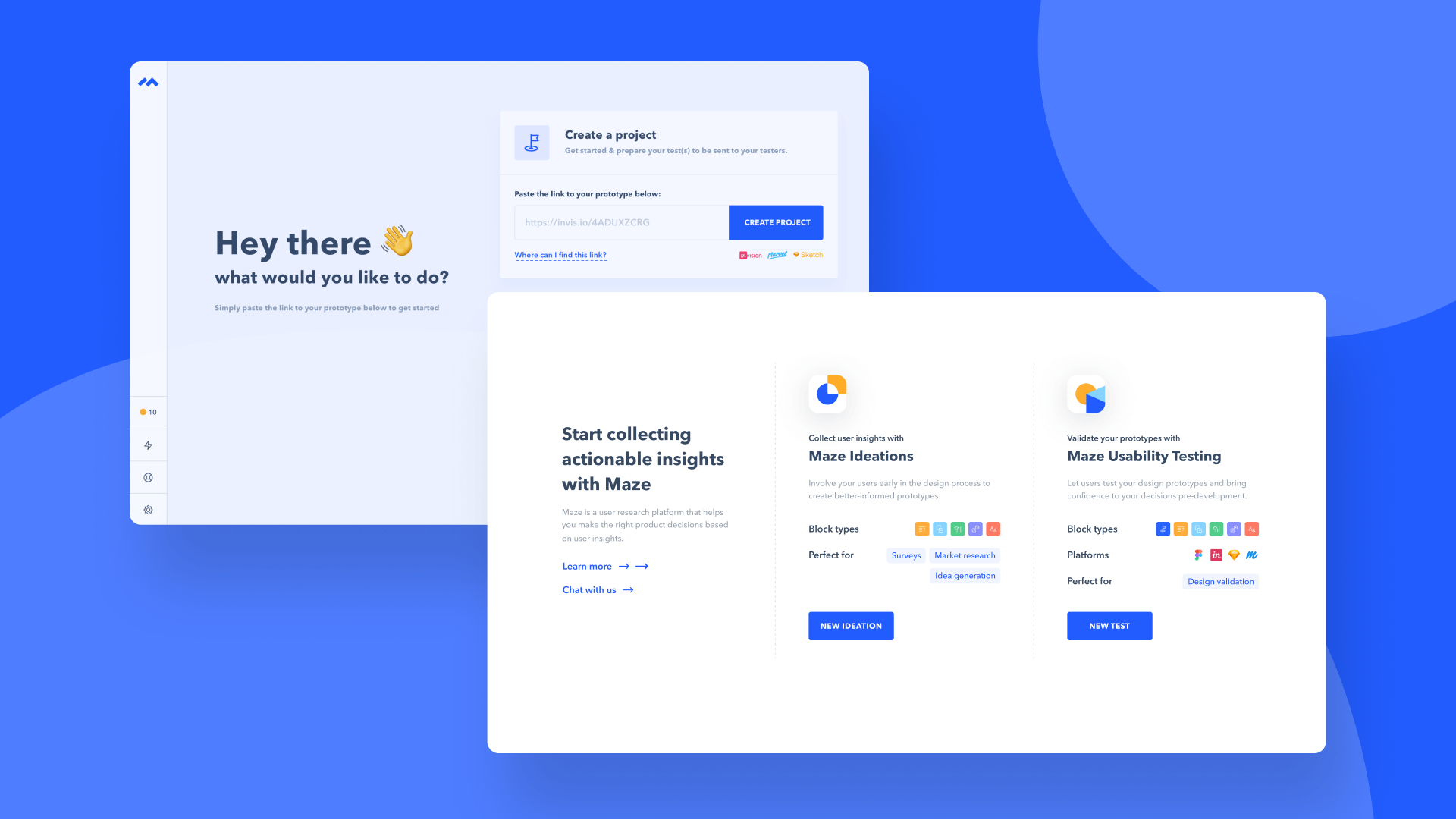 create maze project ui before vs after