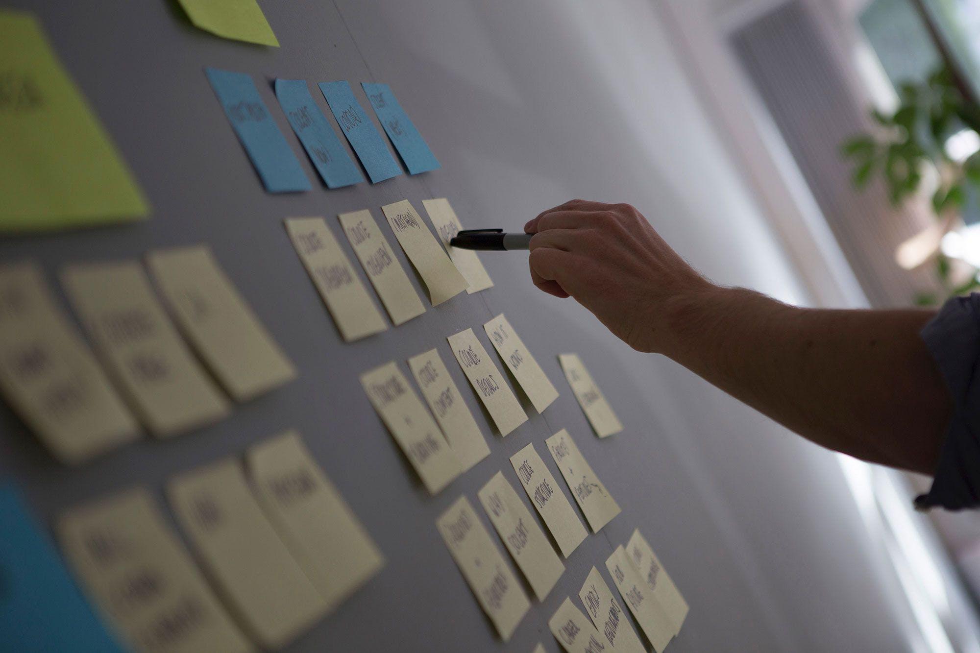 Zengeti usability insights on post-its