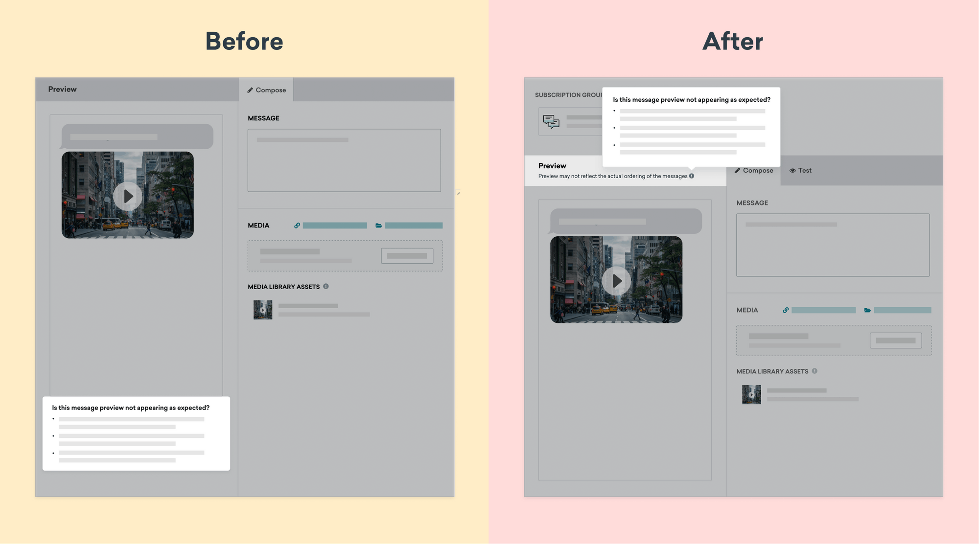 braze before and after