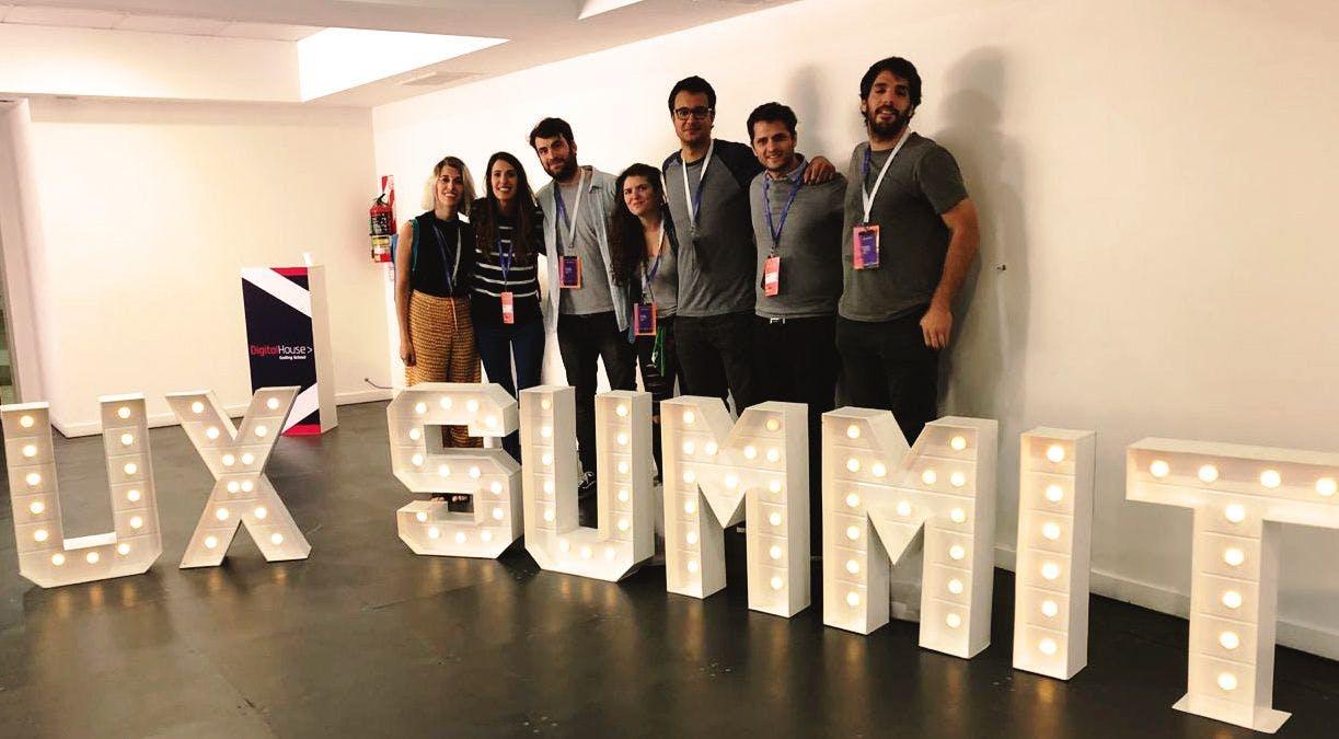 Tiendanube design team at UX Summit