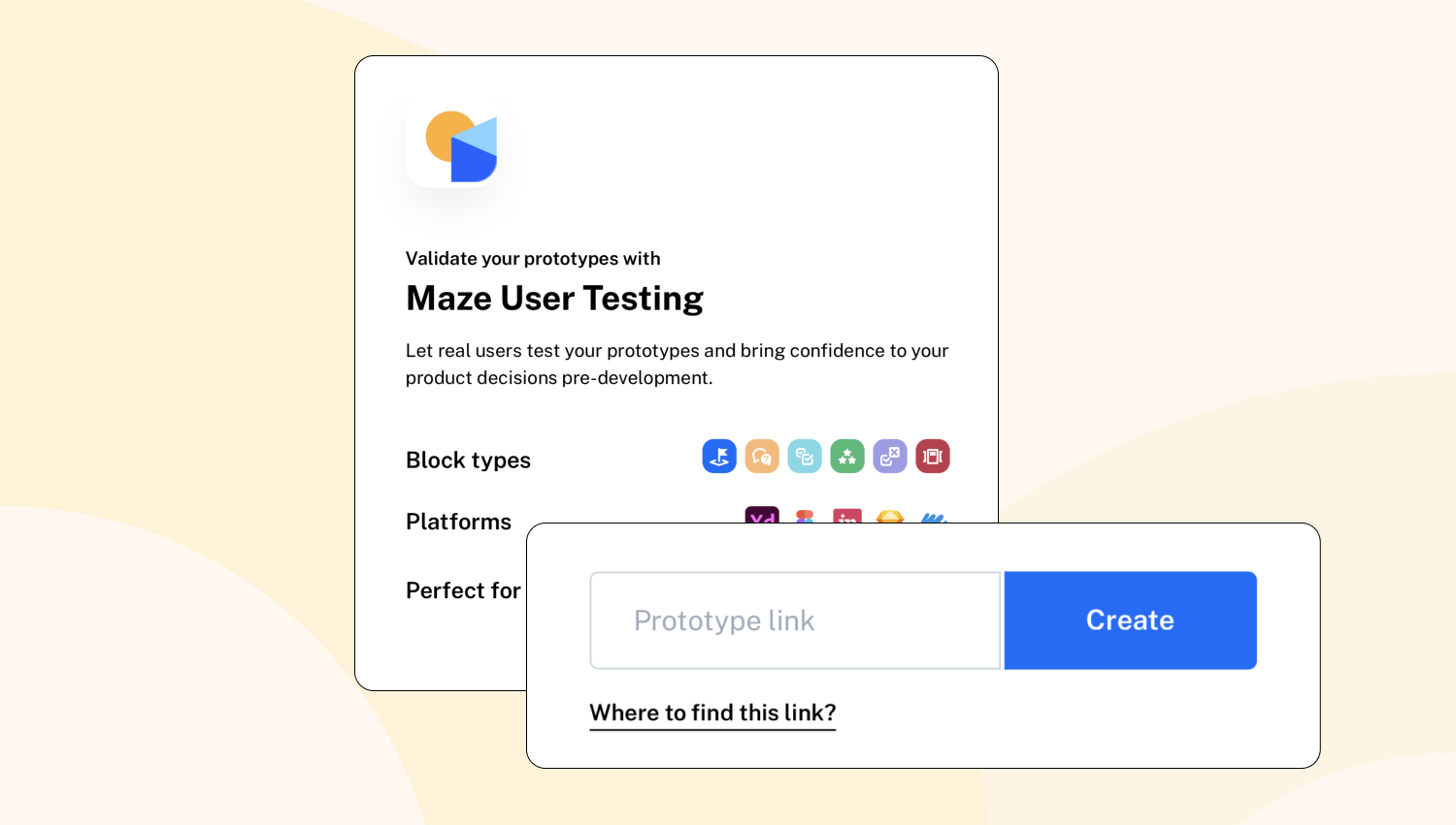 importing a prototype to Maze