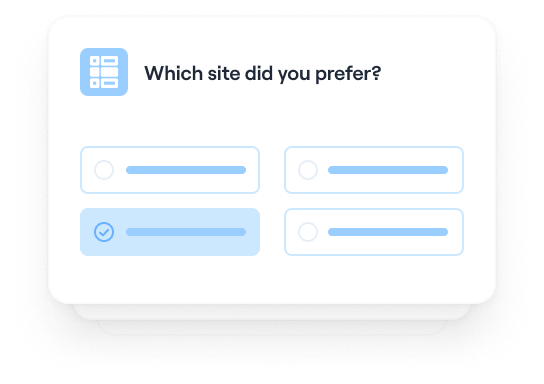Run a wireframe preference test