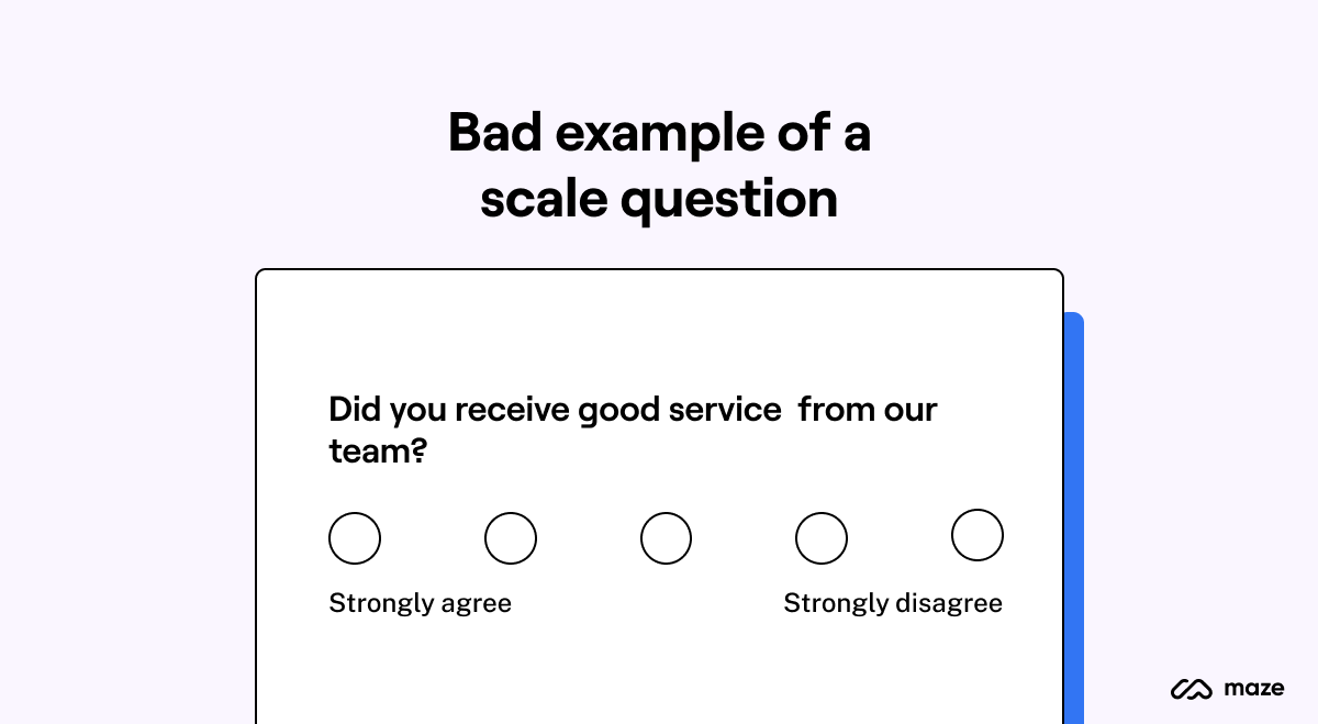 Bad example of a scale question