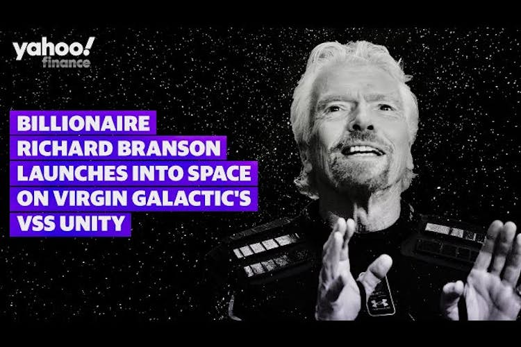 LIVE: Billionaire Richard Branson launches into space and says, 'Its the experience of a lifetime'