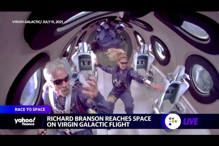 Richard Branson launches into space, Jeff Bezos's Blue Origin tweet critical of space flight