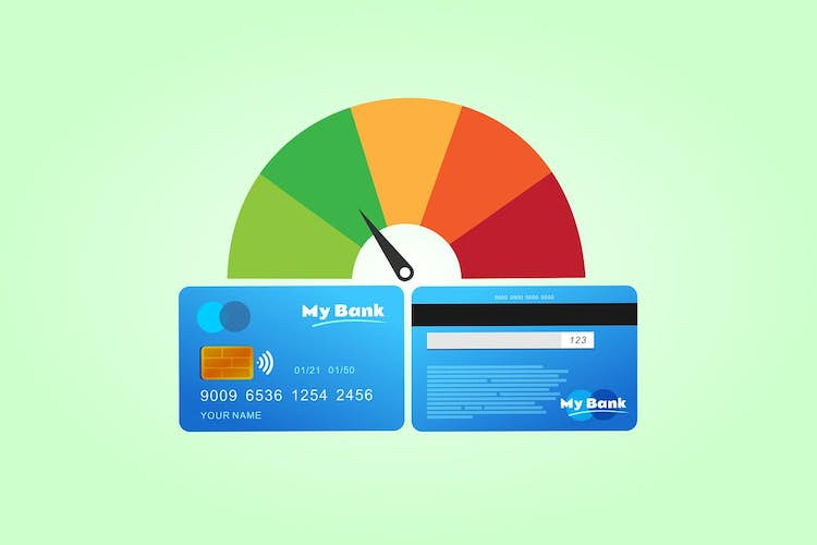 What is the average credit score in the UK?