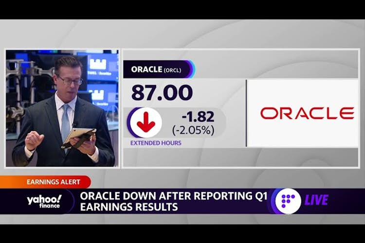 Oracle stock slips after Q1 revenue miss
