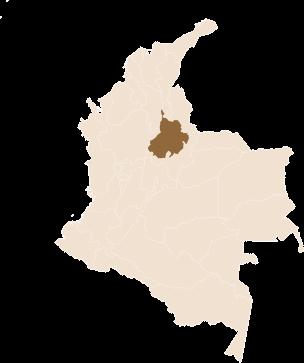 pin Café Mesa de los Santos region Santander, Colombia in Colombia