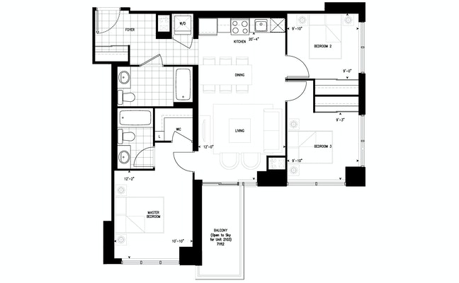 Floor plan 3C at The Humber