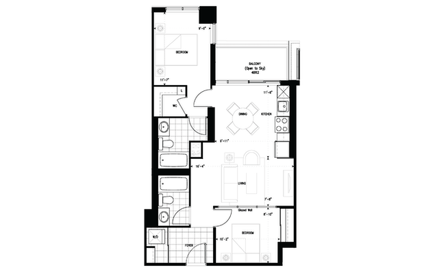 Floor plan 2ITR at The Humber