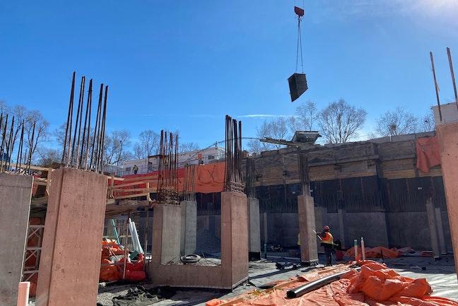 Construction progress at The Humber