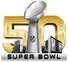 Super Bowl 50 logo -  partner of in/PACT, rewards and engagement through charitable giving