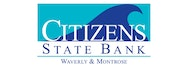 Citizens State Bank of Waverly logo - partner of GoodCoin, the white label charitable giving platform