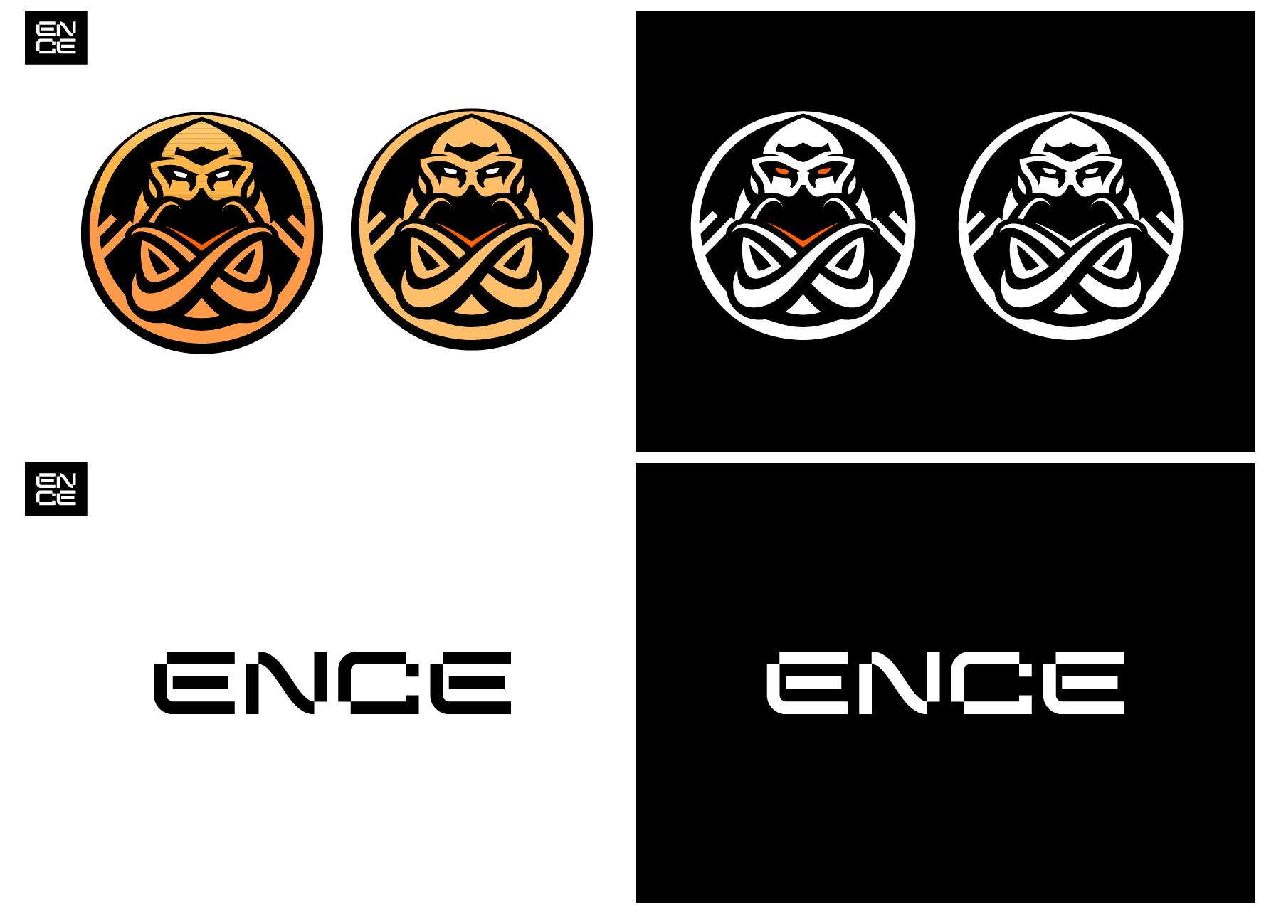 Väreiltään ja muodoiltaan uudistettu Enkelados-logo ja aukikirjoitettu logo.