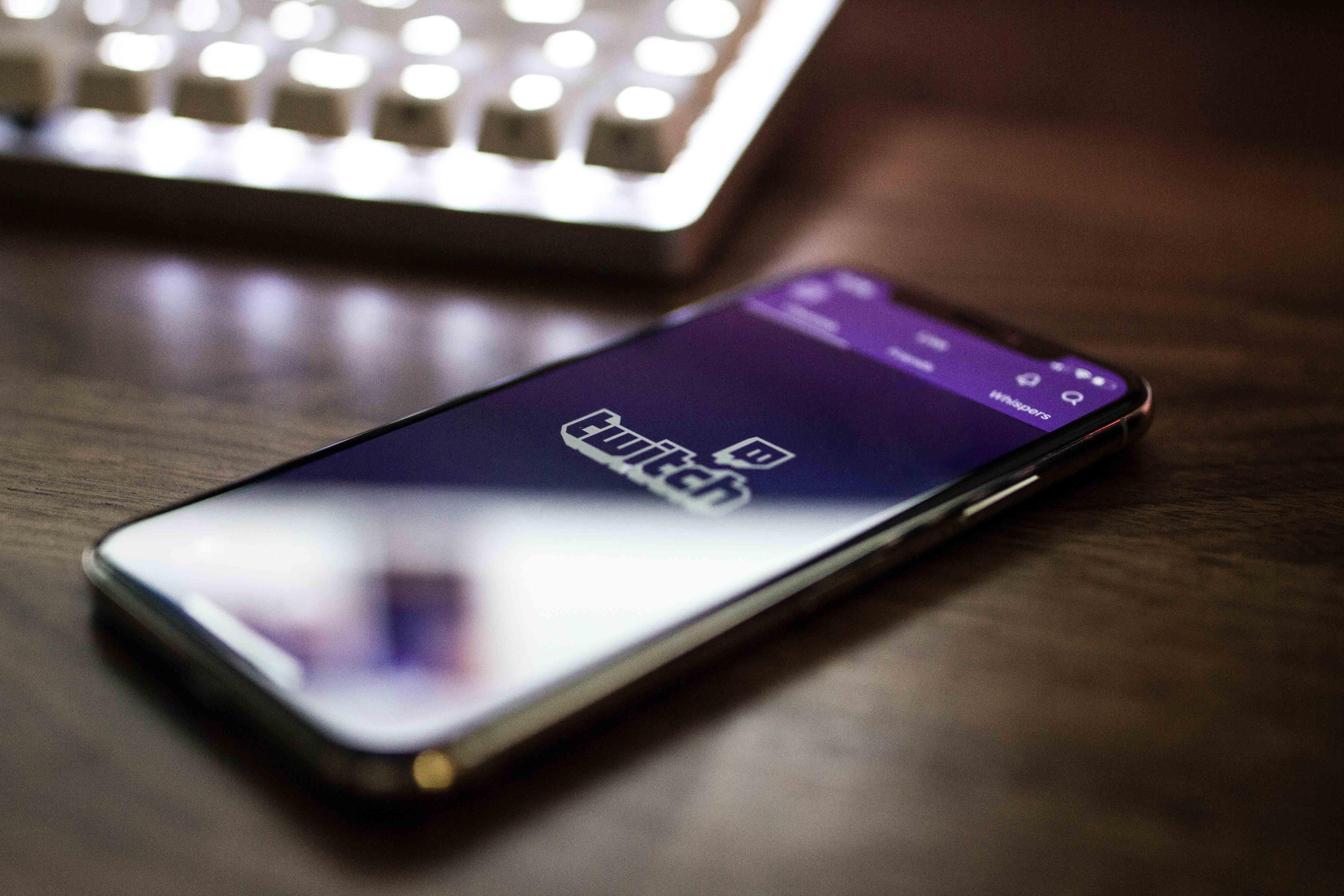 Application Twitch pour mobile