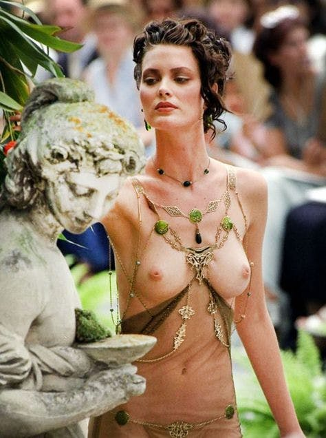 Topless catwalk