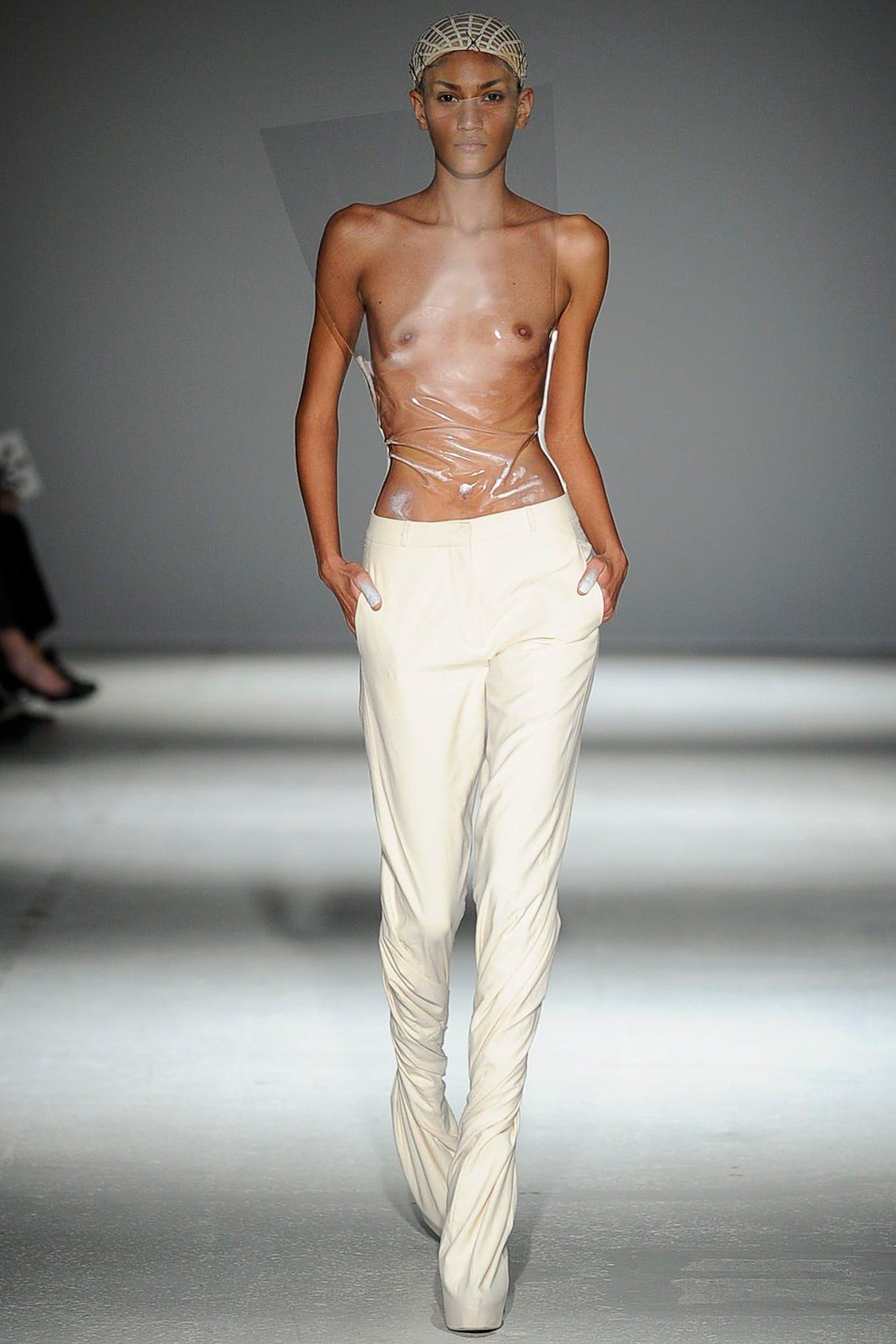Catwalk topless Category:Topless women