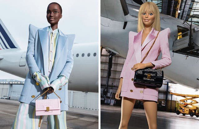 Barbie and Ken Model for Balmain's Collaboration with Mattel - Barbie Ken  Balmain Olivier